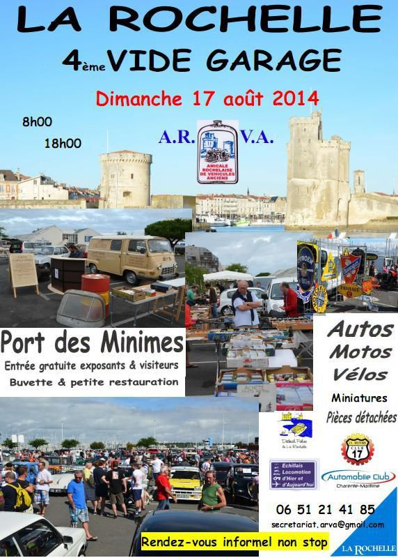 17 08 2014 4 me vide garage la rochelle 17 port des for Garage du port la rochelle