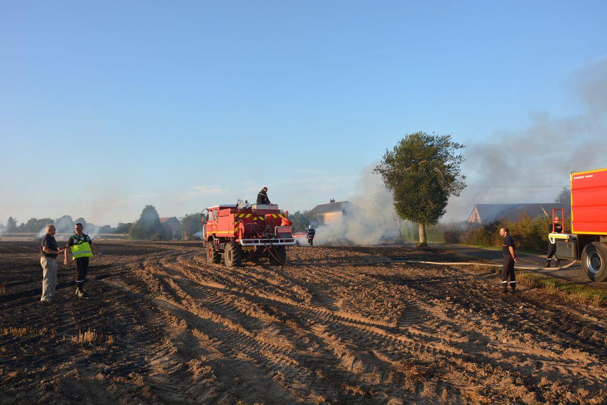 FEU DE RECOLTE - 5 hectares de chaumes détruits