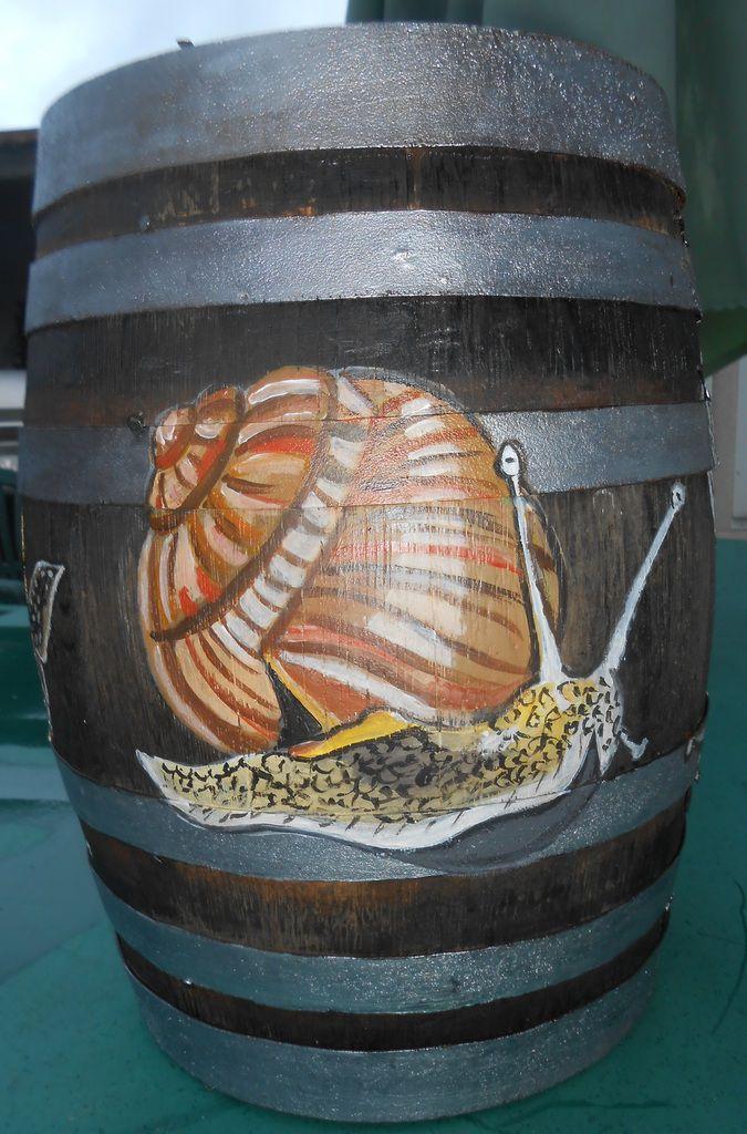 Quatre escargots et un bousier printanier