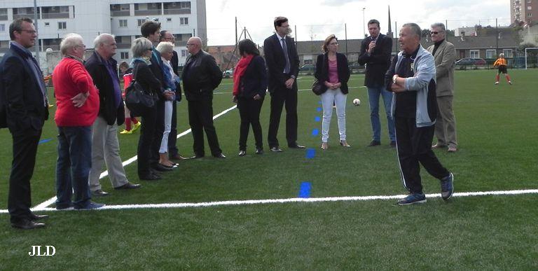Malo-les-Bains: inauguration de la pelouse synthétique au stade de la Licorne