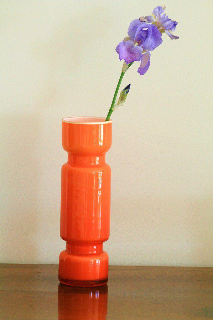 Vase orange Années 70 - Vintage