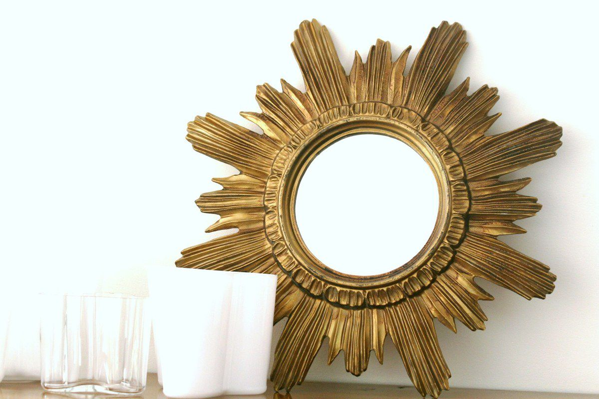 Miroir soleil sorci re ann es 60 vintage vintage family for Miroir de sorciere definition