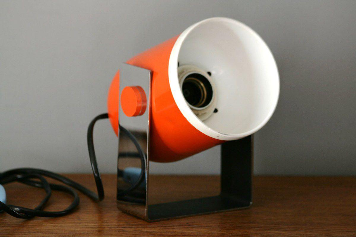 Lampe Orange et chrome Années 70 - Vintage
