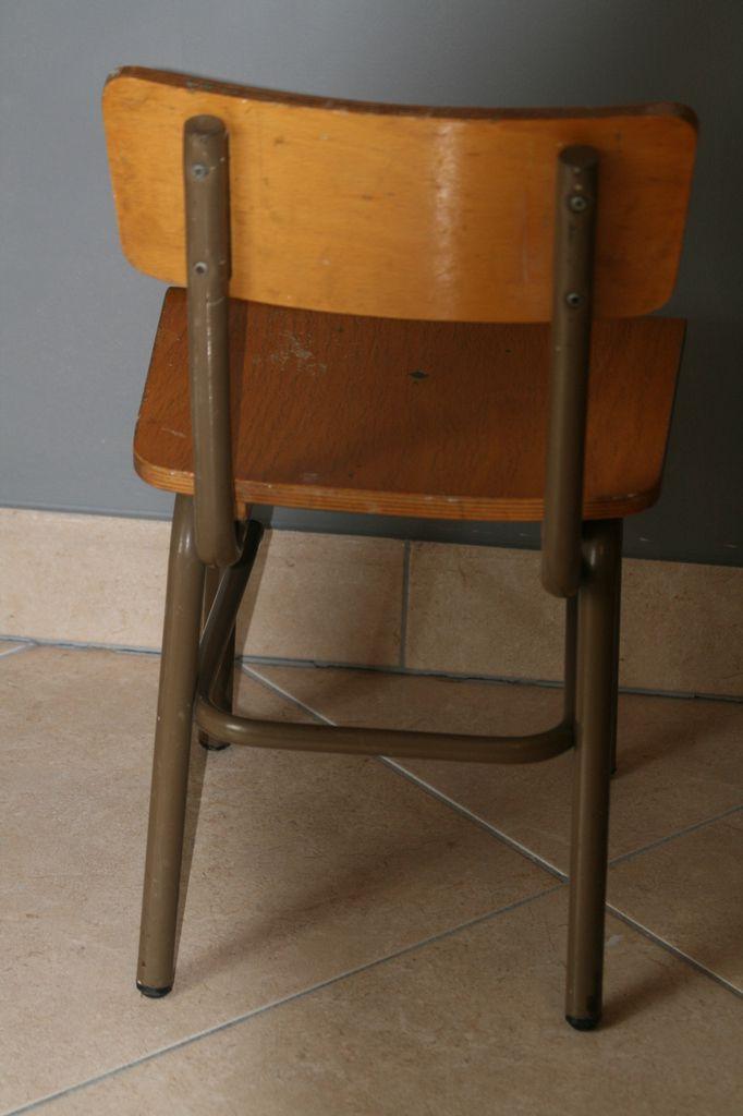 Lot des 2 petites chaises d'école Années 70 - Vintage