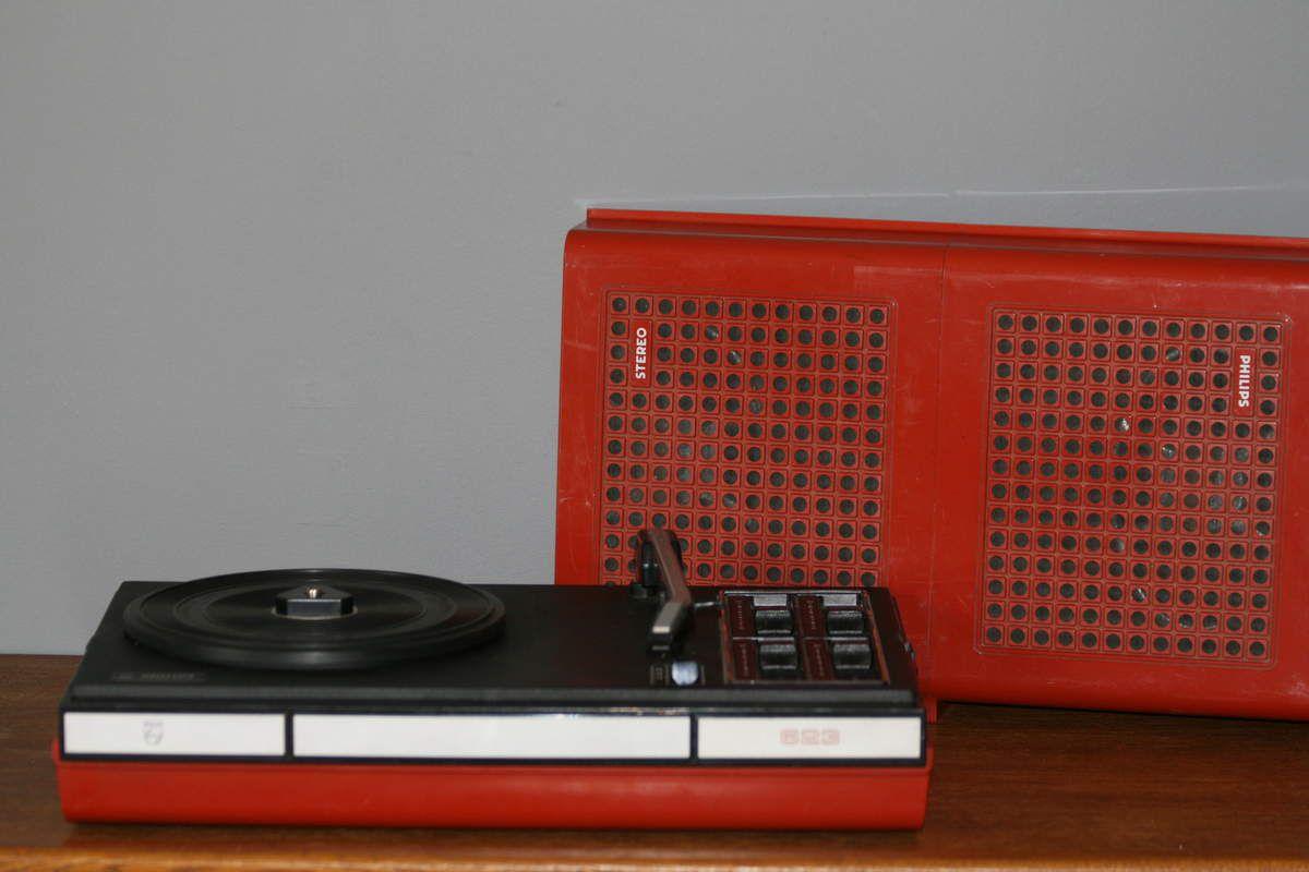 Tourne disque Philips Années 70 - Vintage
