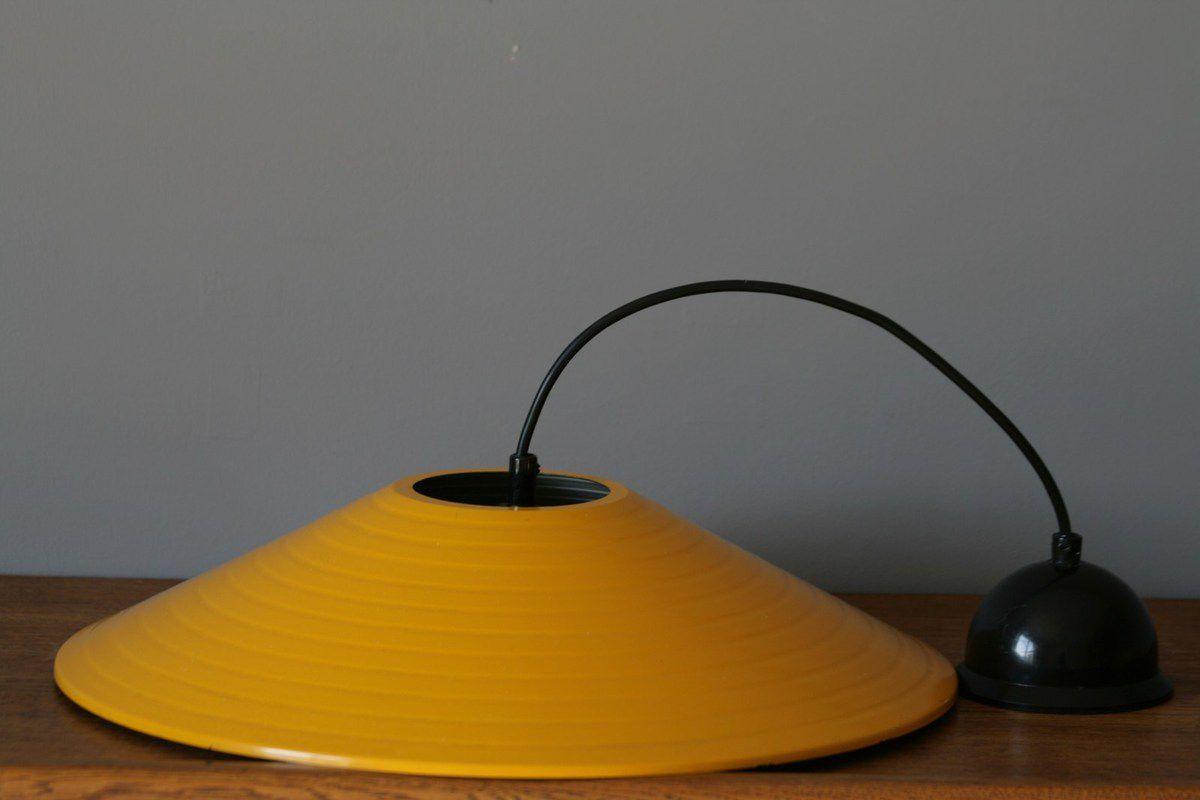 Suspension métal jaune Années 70 - Vintage