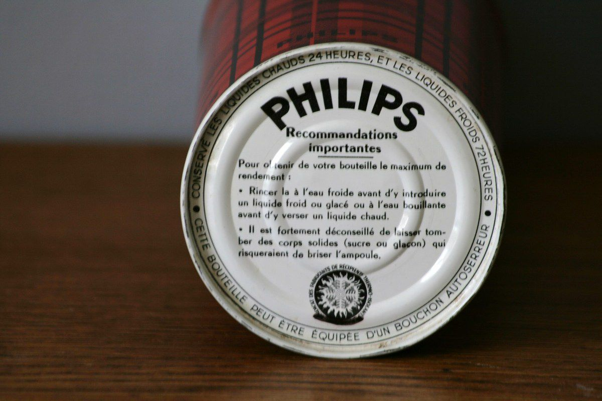 Thermos Philips rouge Années 70 - Vintage