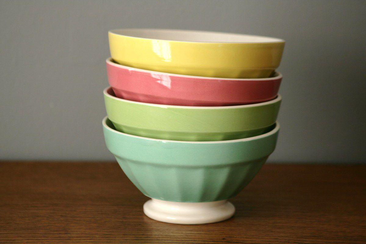 Bol Digoin Sarreguemines couleurs pastels Années 70 - Vintage