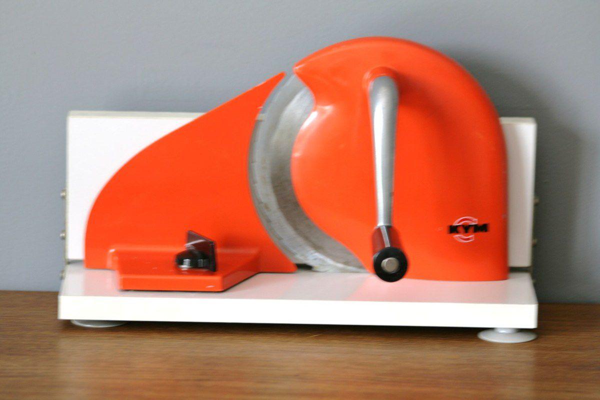 Trancheuse à jambon manuelle KYM orange Vintage - Années 70