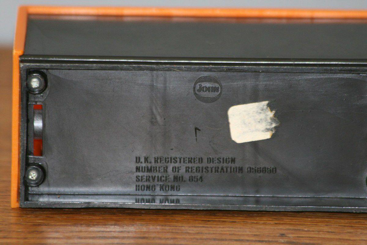 Calendrier Prepétuel oange Jonn Années 70 - Vintage
