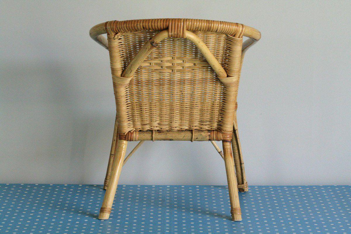 Petit fauteuil en rotin et osier vintage vintage family - Petit fauteuil vintage ...