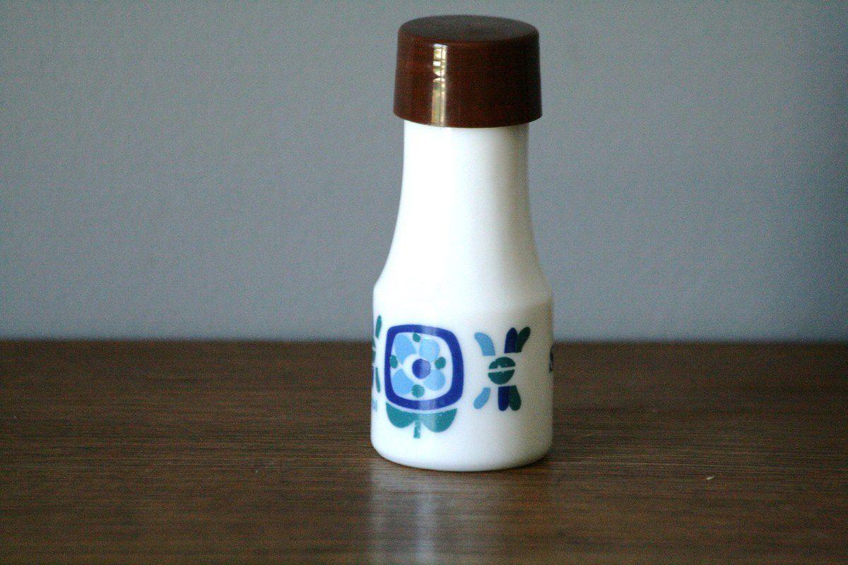 Pot à sel Mobil en Arcopal Années 70 - Vintage