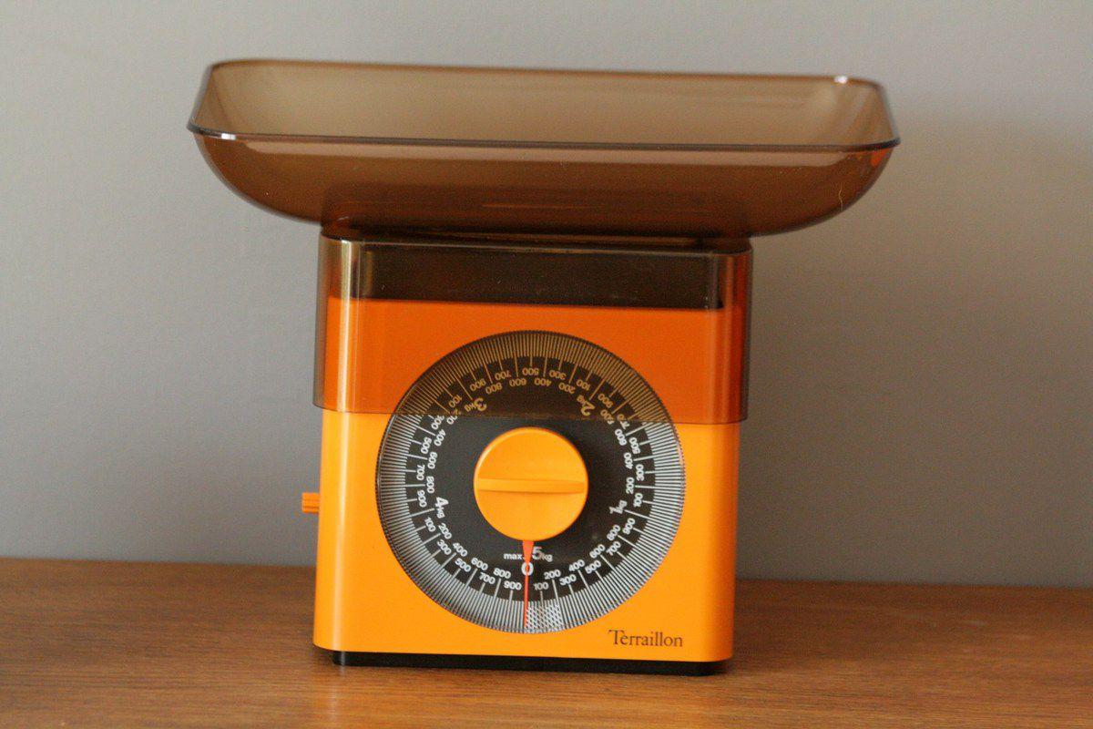 Balance Terraillon orange Années 70 - Vintage