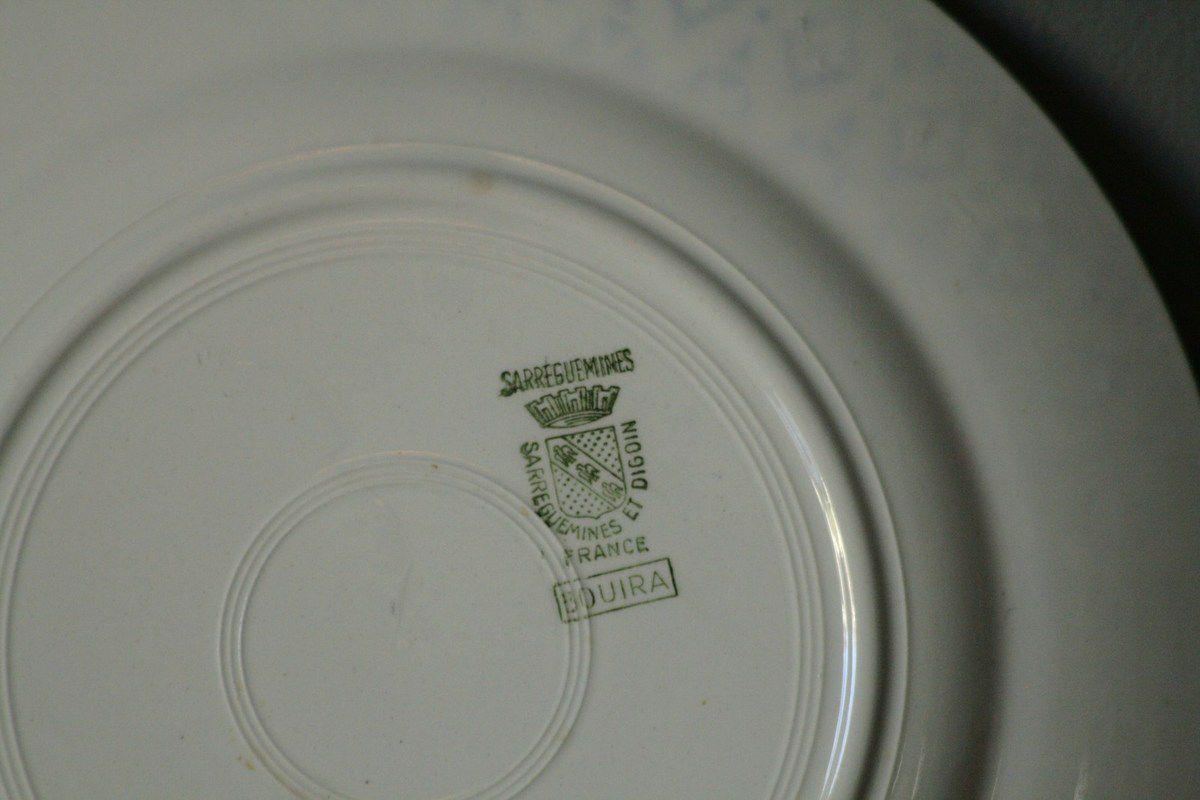Lot de 3 assiettes plates Sarreguemines Digoin Bouira