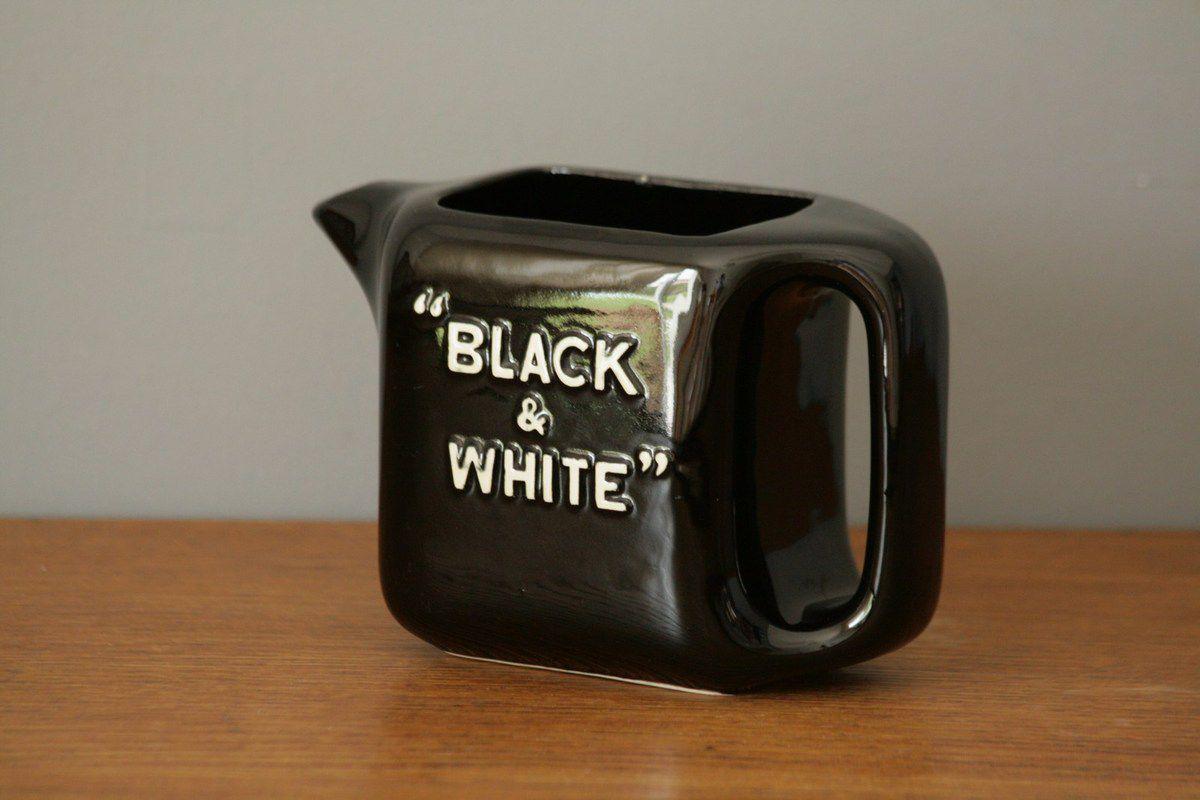 Pichet Black &amp&#x3B; White St Clément Années 70 - Vintage