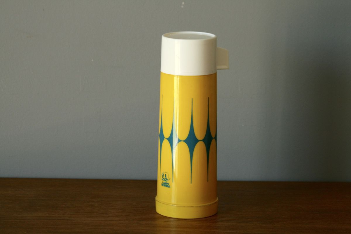 Thermos jaune Lampe Norma Années 70 - Vintage