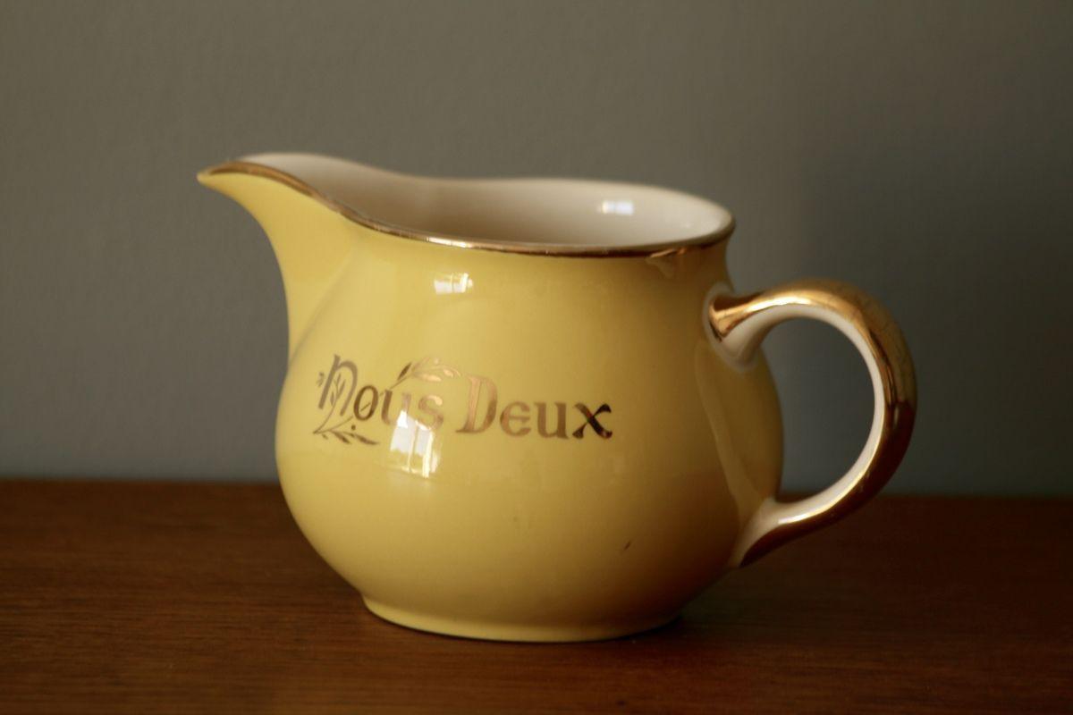 Pot à lait Villeroy et Boch jaune Nous Deux Années 60 - Vintage