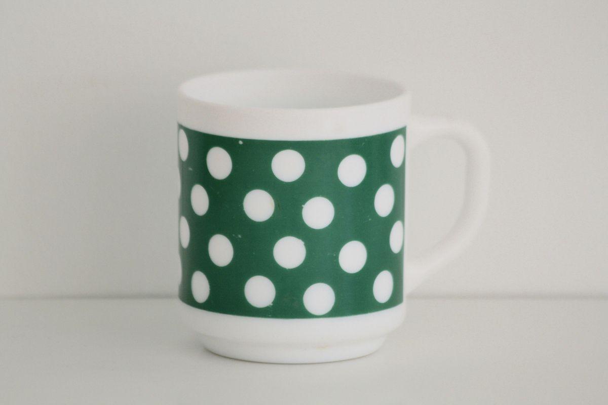 Mug polka vert Années 70 - Vintage