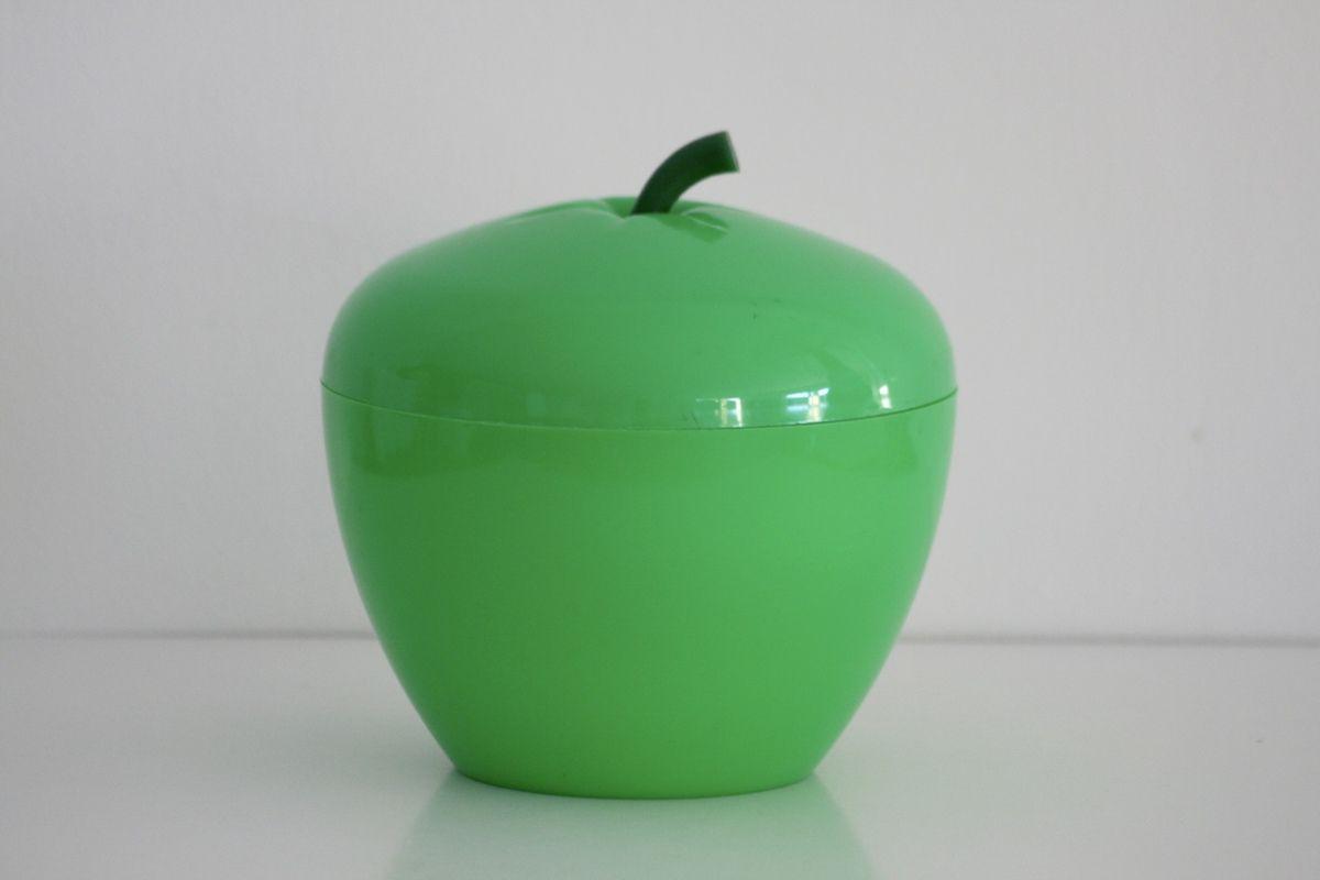 Pomme seau à glaçons Verte Années 70 - Vintage