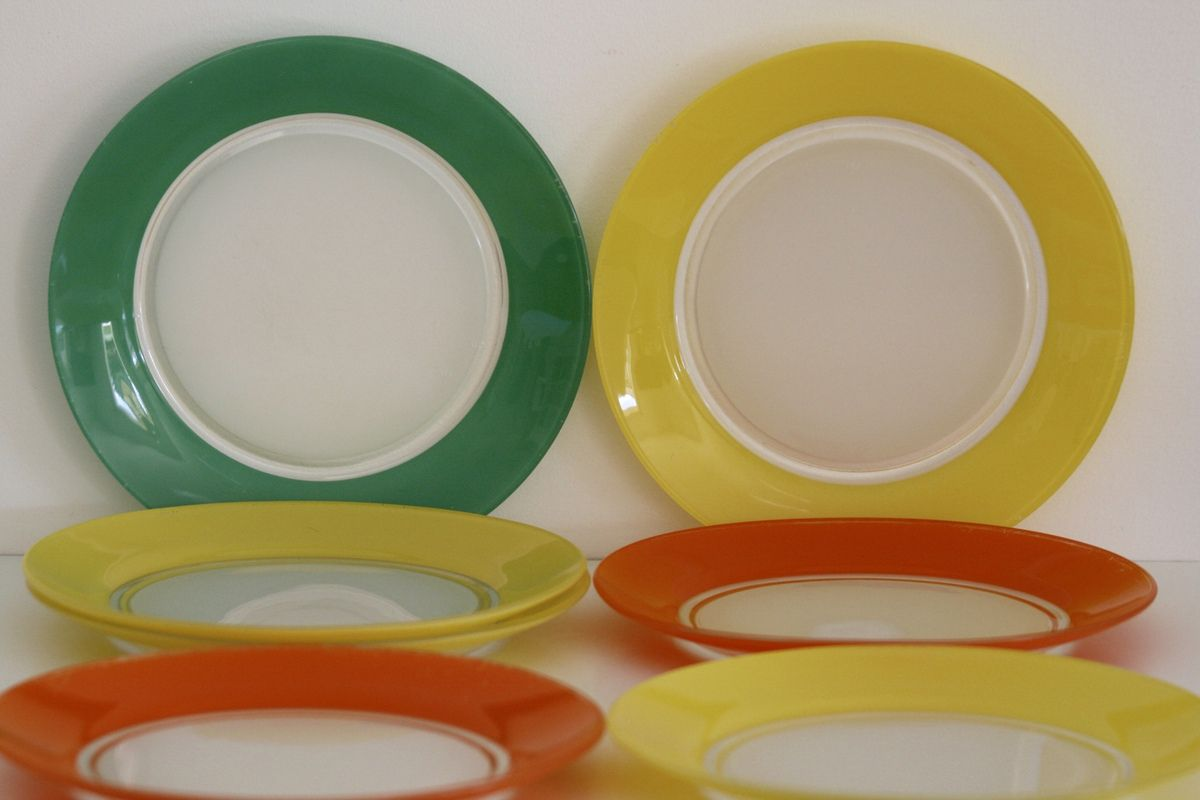 Assiettes plates Duralex Années 70 - Vintage