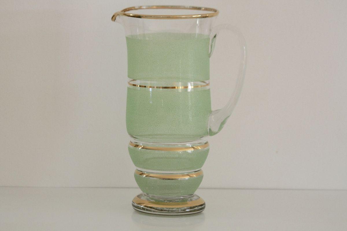 Grande Carafe verre granité Vintage - Années 50