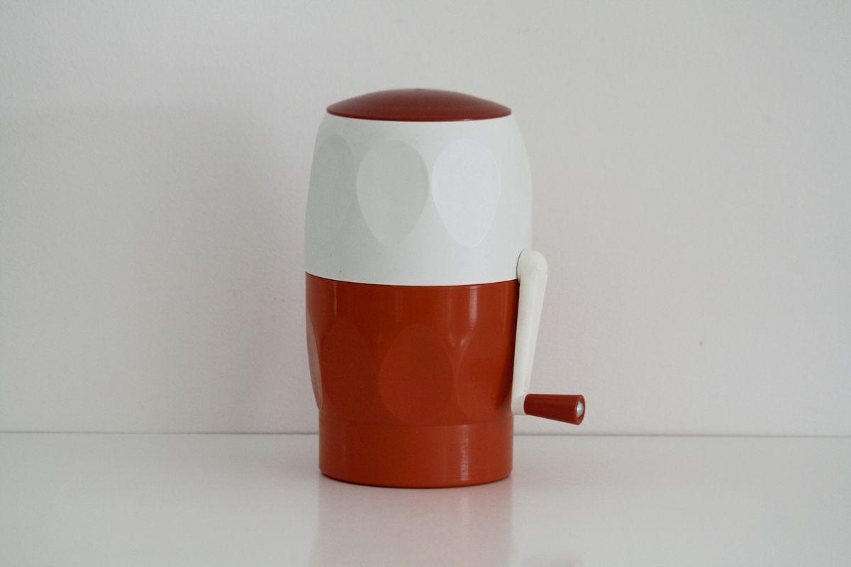 pileur de glace orange et rouge ann es 70 vintage. Black Bedroom Furniture Sets. Home Design Ideas