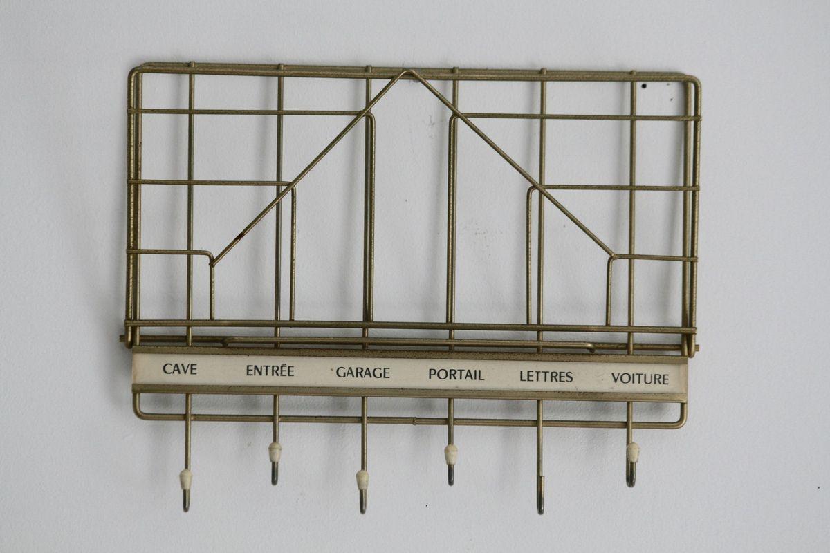 Porte clés porte courrier en métal doré Années 60 - Vintage
