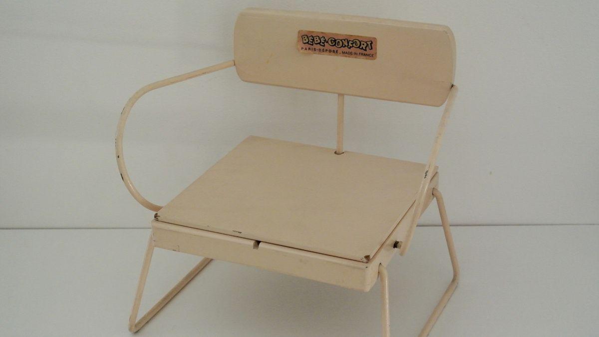 Chaise de poupée Bébé Confort Années 60 - Vintage
