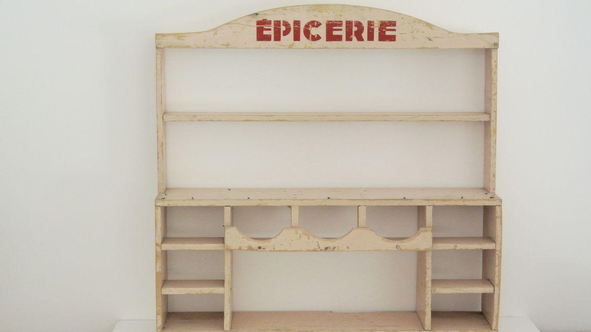 Petite épicerie en bois pour enfant Années 60 - Vintage