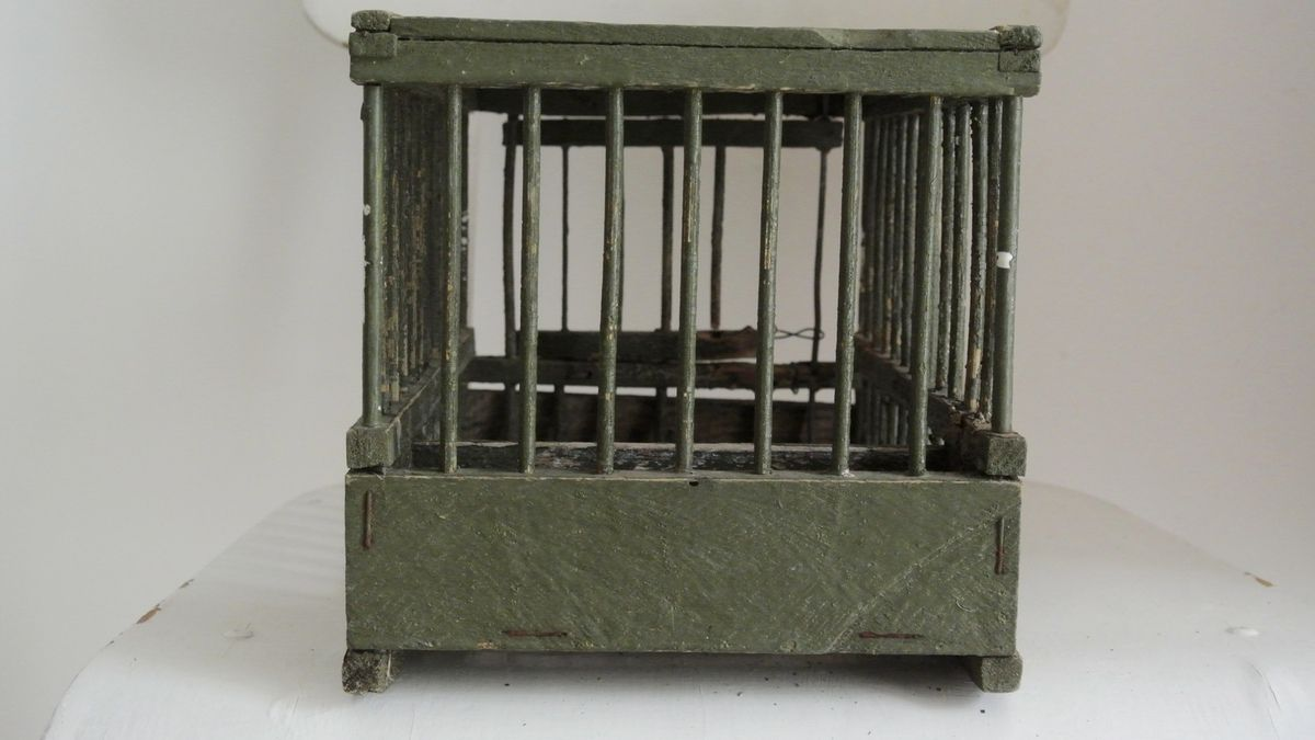 Petite cage à grive cage à oiseaux Vintage