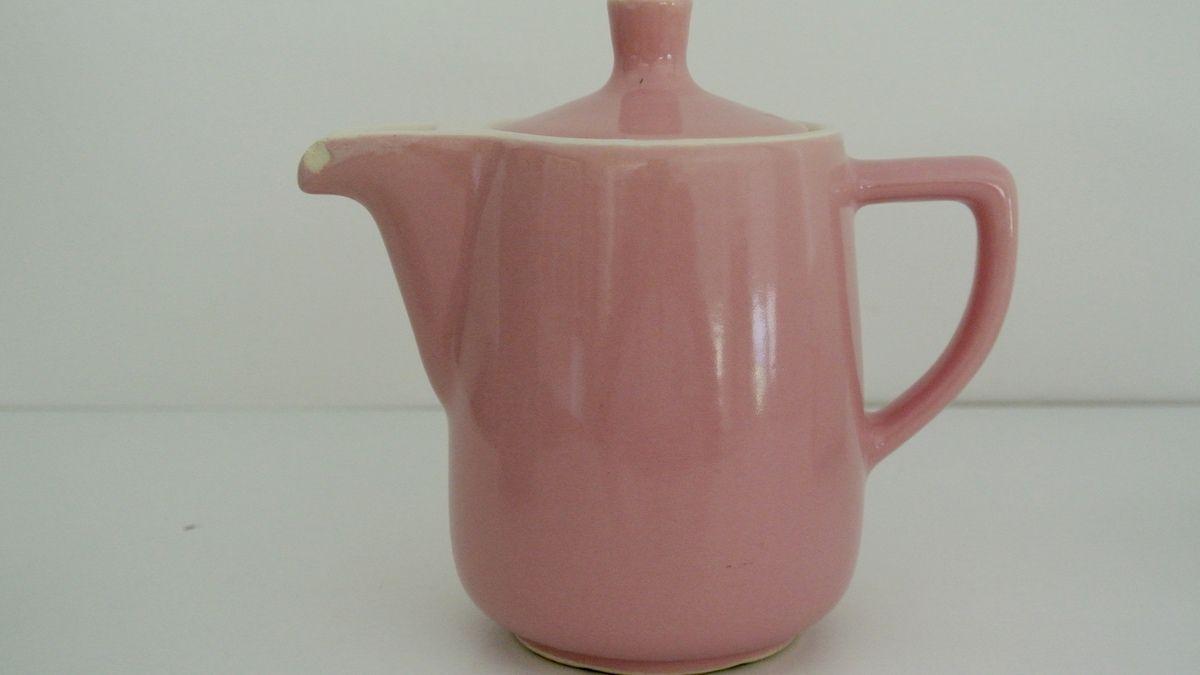 Cafetière rose et porte filtre Melitta Années 60 - Vintage