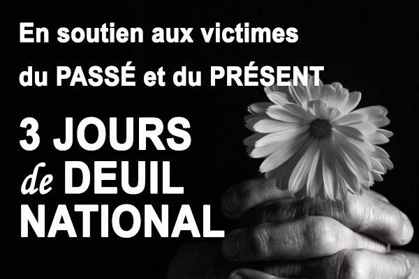 3 JOURS DE DEUIL NATIONAL