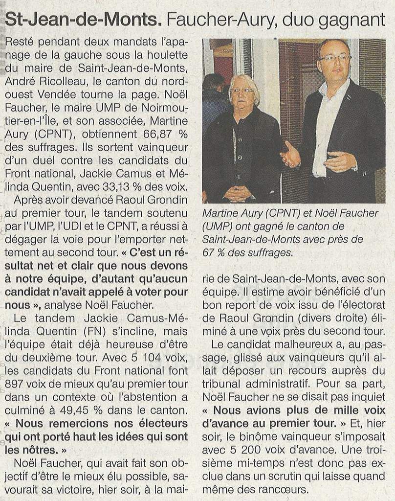 OUEST - FRANCE 30 MARS 2015
