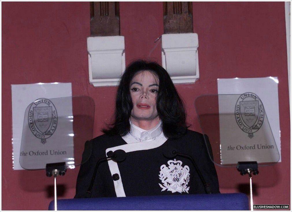 Michael Jackson à Oxford en mars 2001.