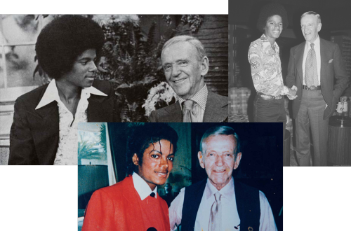 Michael Jackson et Fred Astaire.