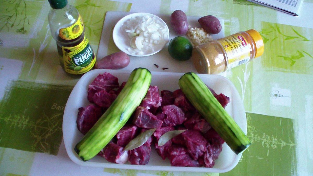 Colombo de boeuf aux légumes