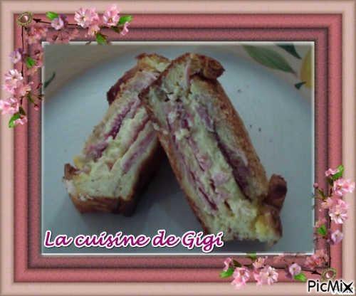 Croque cake au jambon et fromage