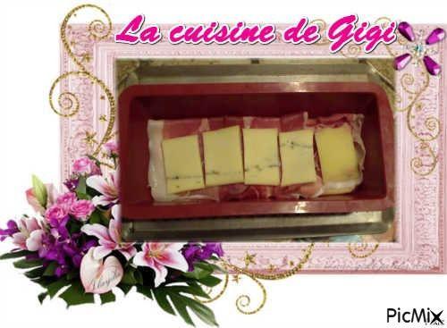 Croque cake franc-comtois (morbier et jambon de pays)