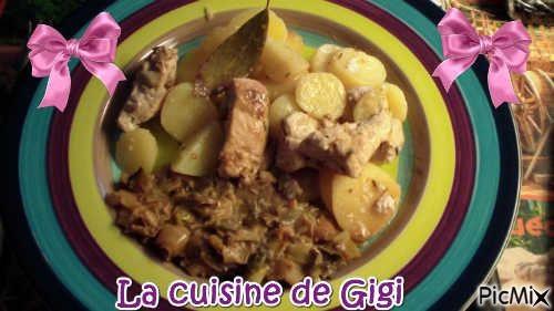 Poulet méditerranée et poireaux pommes de terre