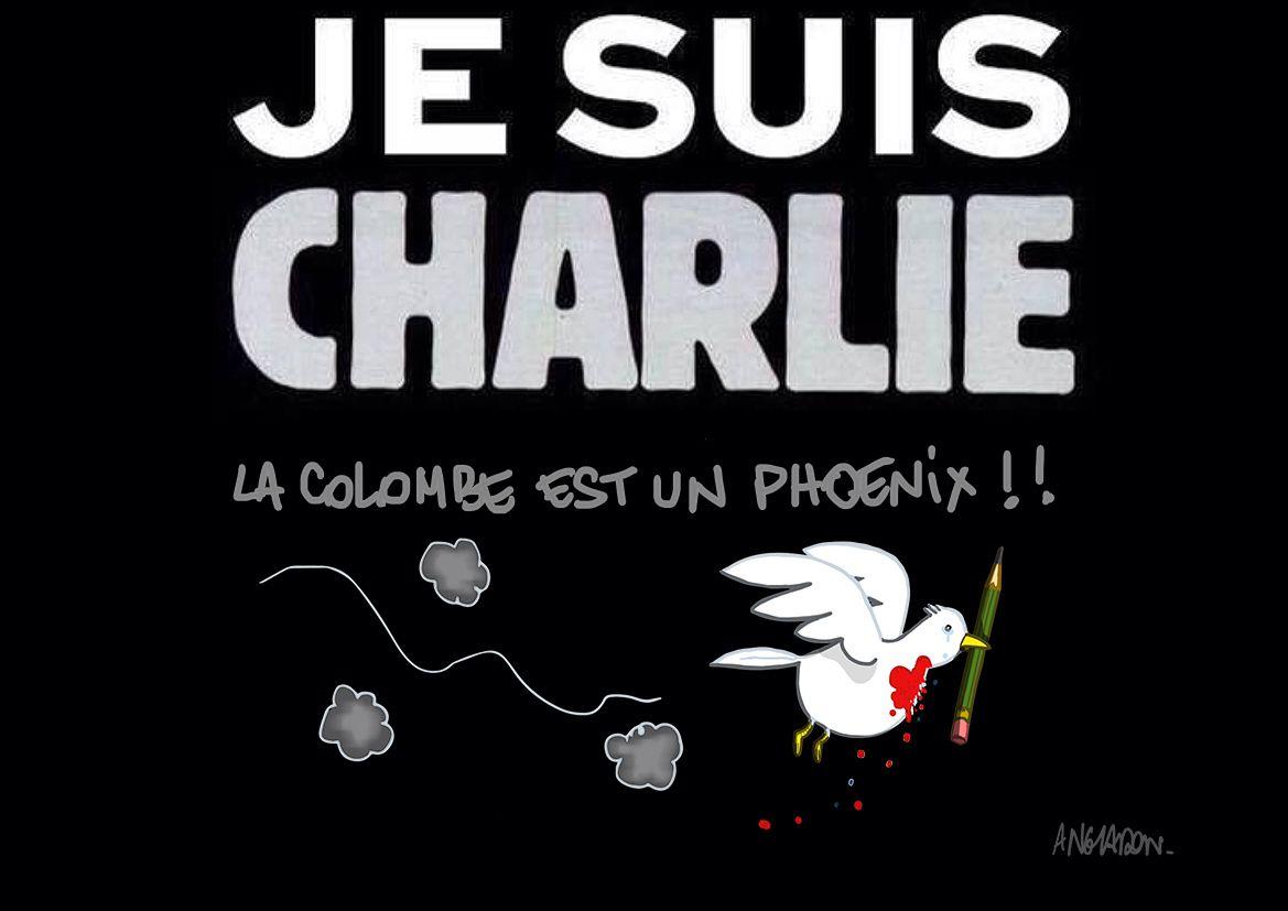 hommage à charlie hebdo .....modeste dessin qui ne comble pas la douleur !