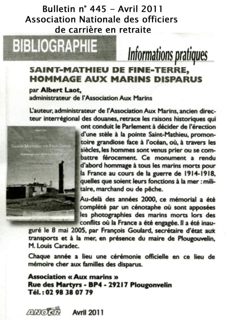 """Les articles de presse relatifs aux évènements qui jalonnent la vie de l'association """"Aux Marins"""""""