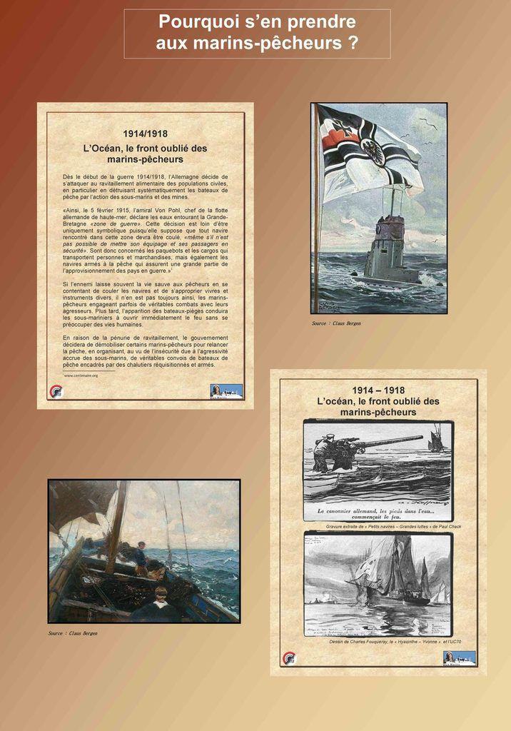 Exposition 2014  - L'Océan - le front oublié des marins pêcheurs - 1914-1918