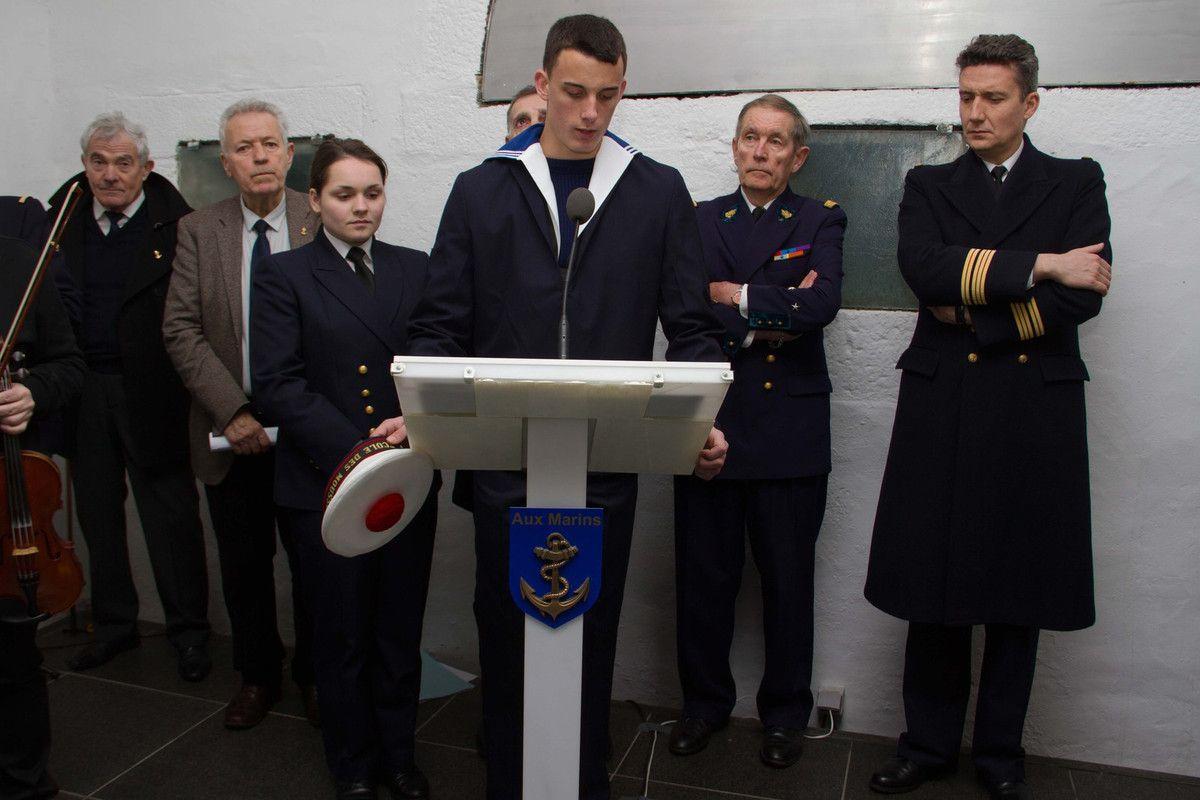 26 janvier 2016 - l'École des Mousses visite le Mémorial national des marins morts pour la France