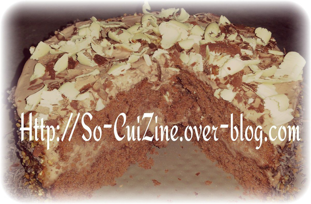 Layer Cake aux 3 chocolats