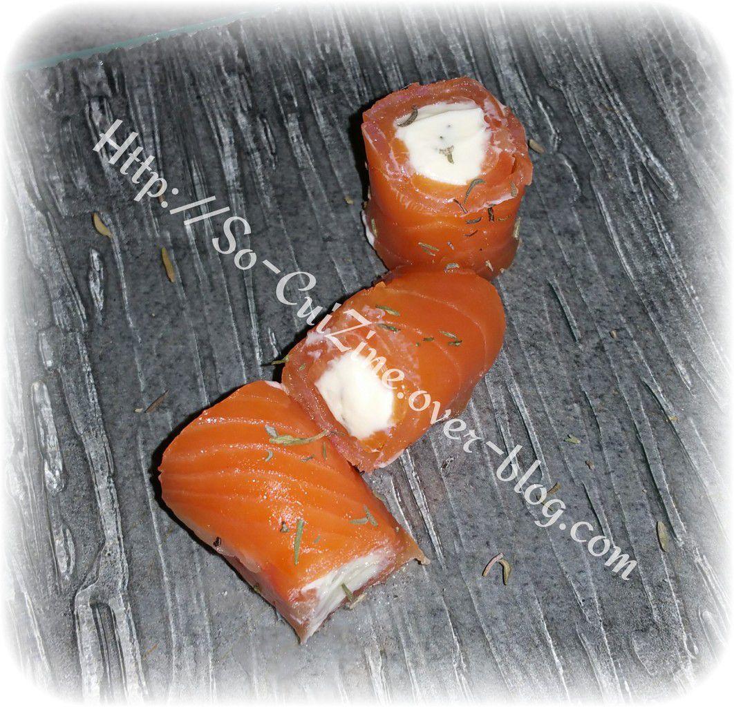 Bouchées de truites fumées OVIVE au fromage et fines herbes