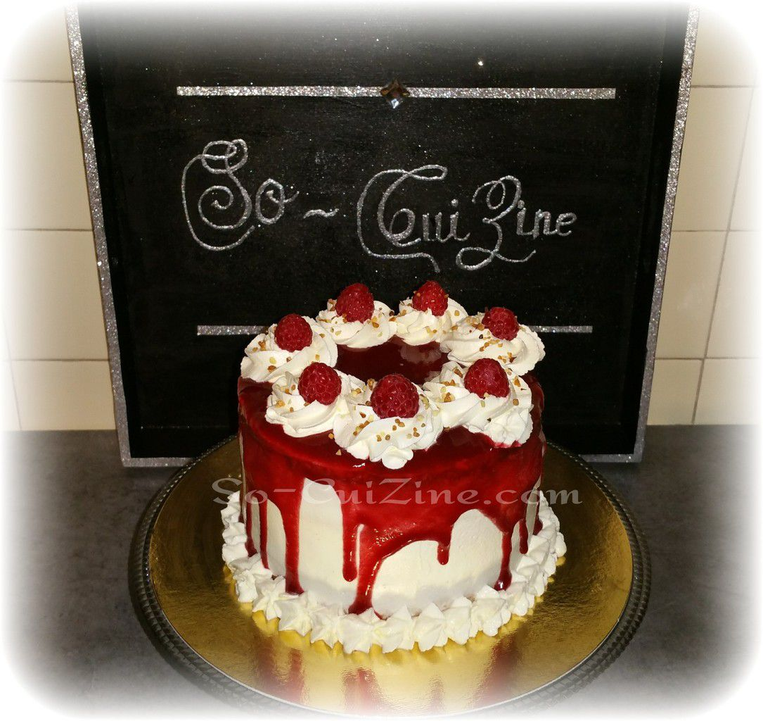 Layer Cake Framboise et pralin