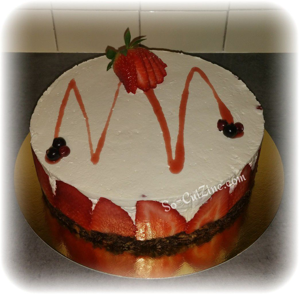 Cheese-cake aux fruits rouge