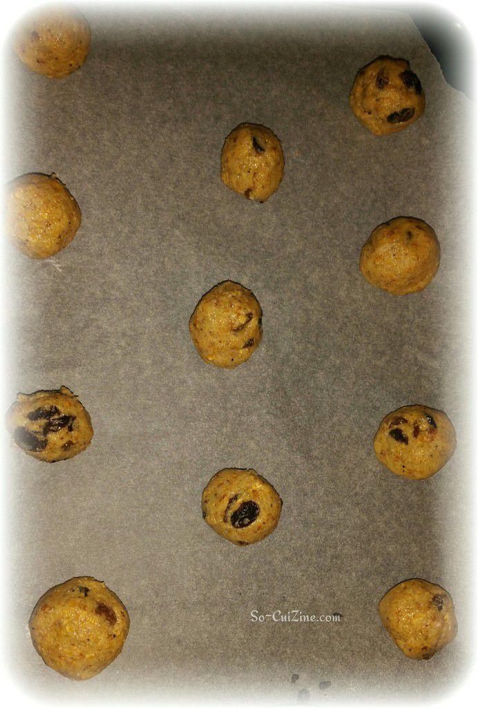 Cookies light aux flocons d'avoine et raisins sec