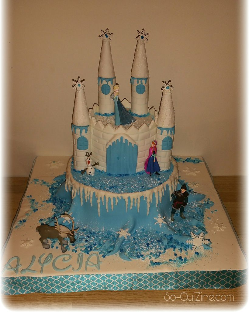 Castle Frozen Cake - Gateau Chateau Reine des neiges