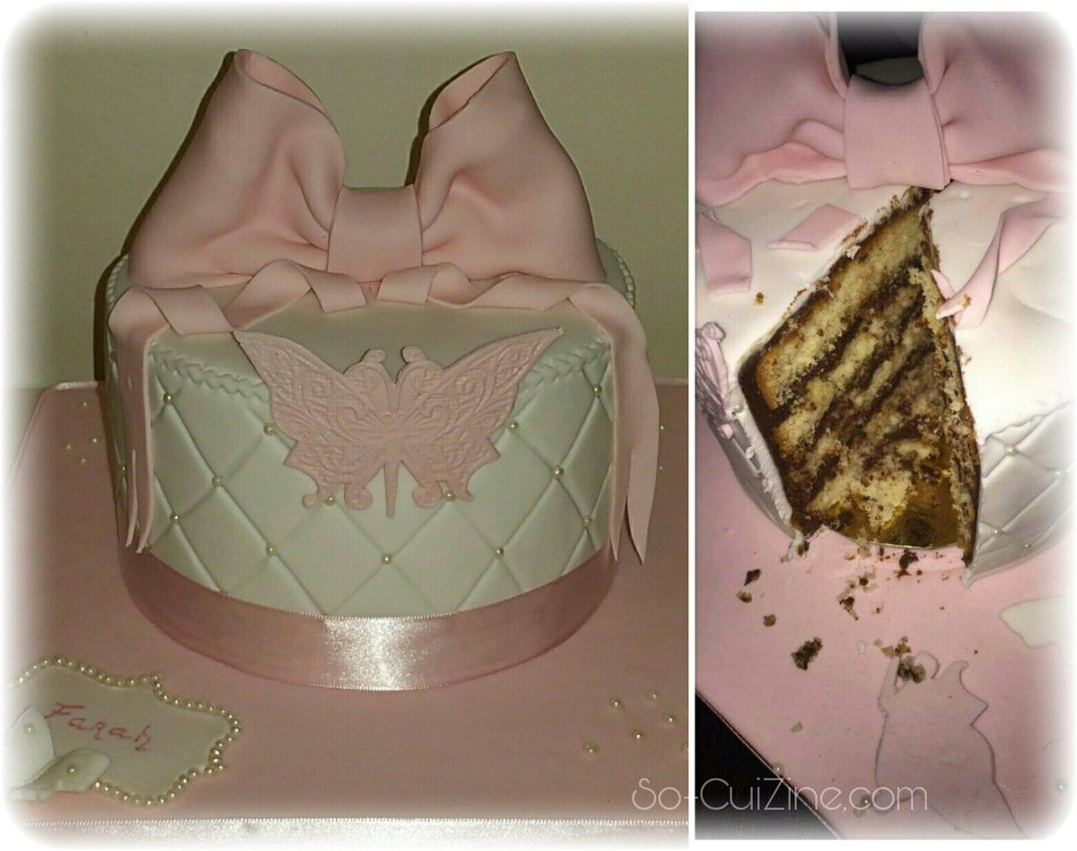 Cake Design - Pink and White